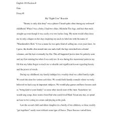 Personal Narrative Essay Examples For Colleges Example