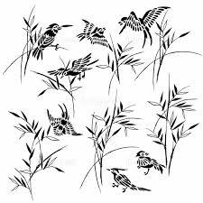 和調 竹と鳥イラストの画像素材31038567 Cg素材ならイメージナビ