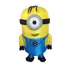 New <b>Inflatable Minions</b> Mascot <b>Costume Halloween</b> Party Christmas ...