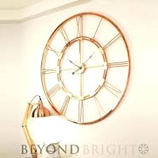 wall clocks uk only wall clocks only medium image for large wall clock copper metal industrial