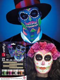 neon day of the dead latex kit all accessories fancy dress hub