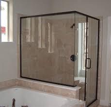 awe inspiring sliding wall door white floor black dark black framed glass shower doors