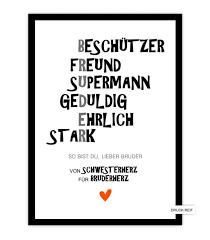 Schöner Kunstdruck Schwester Und Tolles Geschenk Für Die Kleine