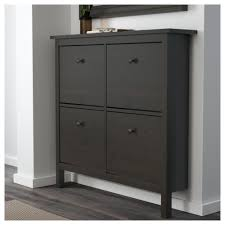 Ikea Shoe Drawers Hemnes Shoe Cabinet With 4 Compartments Black Brown 107x101 Cm Ikea