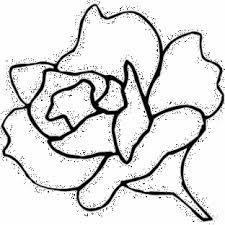 Semplice Rosa Da Colorare Gratis Disegni Da Colorare E Stampare