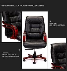 black genuine leather high back office chair s