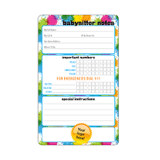 Babysitter Information Babysitter Information 5 25x8 5 With Dry Erase Pen And Magnet