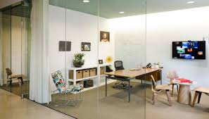 cool office cubicles. Amazing Glass Walls Provide Special Cubicles In Cool Office Work Space Image