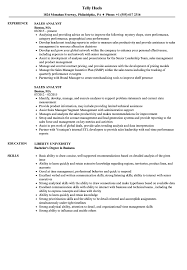 Sales Analyst Resume Samples | Velvet Jobs