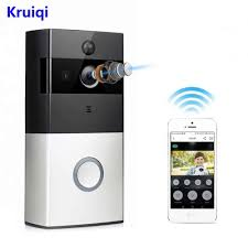 <b>Kruiqi</b> Wireless Intercom Doorbell Video <b>Camera</b> WiFi <b>IP</b> 720P PIR ...