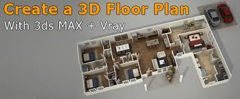 3d floor plan rendering in 3ds max