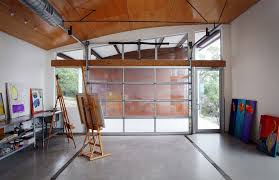 home office in garage. Painting Garage Door Home Office Modern With Wood Quartz Movement Wall Clocks In
