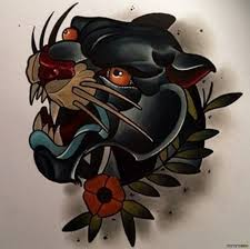 тату эскиз пантера олд скул тату в стиле олд скул тату пантера