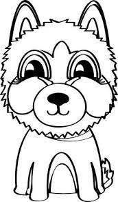 Isolierte Schwarz Und Weiß Junge Husky Hund Vektor Illustration Auf