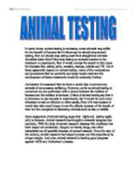 animal testing gcse english marked by teachers com page 1 zoom in