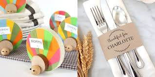 17 easy diy thanksgiving place cards cute ideas for thanksgiving name cards