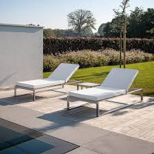 outdoor furniture white. FueraDentro SIESTA Modern Sun Lounger | Minimalist Sunbed Designed By Henk Steenbakkers LUXURY Garden Outdoor Furniture White H