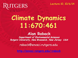 Alan Robock Department Of Environmental Sciences Rutgers