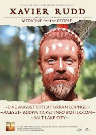 xavier rudd cine for the people will be live at the urban lounge in salt lake city utah on august