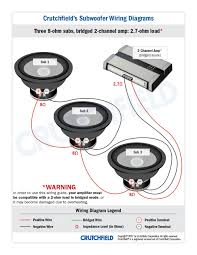 subwoofer wiring diagrams 3 svc 8 ohm 2ch low imp