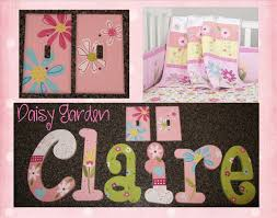 girls wall letters pottery barn kids pink daisy garden