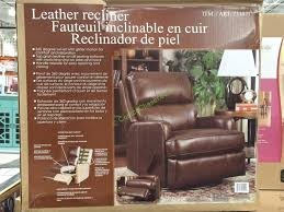 costco 731077 synergy leather recliner box