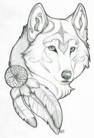 cute baby wolf drawings pup anime images