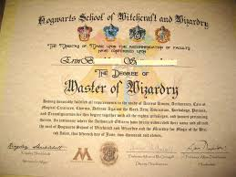 Make Your Own Harry Potter Hogwarts Diploma Acceptance Letter