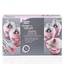 Tommee Tippee Pink Decorated Bottles Tippee Closer To Nature Decorated Bottle Starter Kit Pink 100100 96