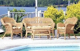 hampton bay outdoor wicker furniture sahara all weather resin wicker furniture set cdi 001 s 4