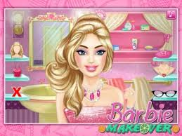 barbie dress up makeup fashion show games