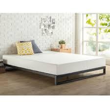 metal platform bed frame. GreenHome123 Modern Heavy Duty 7-inch Low Profile Metal Platform Bed Frame  With Wood Slats Metal Platform Bed Frame
