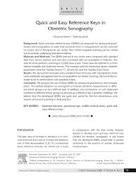 Pdf Quick And Easy Reference Keys In Obstetric Sonography