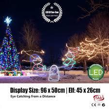 christmas rope lighting. outdoor led rope light neon elf seesaw xmas display christmas lighting