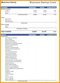 Business Start Up Costs Template Business Start Up Template Excel Business Startup Spreadsheet