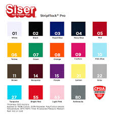 Siser Color Chart
