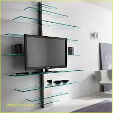 tv wall mount with glass shelves contemporary luxury for home furniture and wallpaper design inside 10