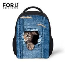 FORUDESIGNS/джинсовые школьные <b>сумки для детей</b> ...