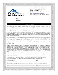 Roofing Certificate Of Completion Template Mangdienthoai Com