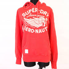 Details About T Superdry Mens Hoodie Sweatshirt Red Size S