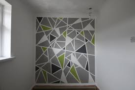 interior: Gorgeous White Grey Also Green And Black Coloring The Mesmerizing  Diy Wall Painting At