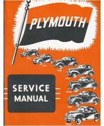plymouth plymouth 1936 1939 1940 1941 1942 plymouth service manual book