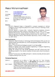Resume In English Examples 60 English Cv Examples Reporter Resume English Resume Template Best 6