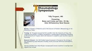 Bones and Crohns and Skin, Oh My: Auto-Inflammatory Bone Disease-Polly  Ferguson, MD on Vimeo