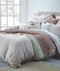 blush linen duvet cover chambray cotton bedding