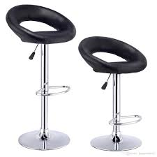 of 2 bar stools adjustable pu leather barstools swivel pub chairs black new from hongxinlin21 55 28 dhgate com