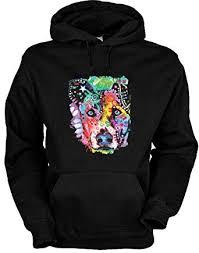 Bekleidung Neon Hunde Süßer Hundekopf Hundemotiv de -- Motiv Amazon Hoodie Flipped - Hoody Kapuzensweater Kapuzenshirt