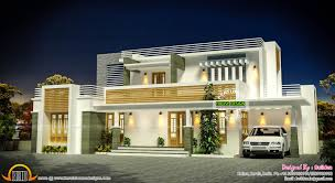 flat roof contemporary home exterior plan kerala design house plans with pictures modern fla