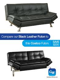 looks for less compare our leather futon to this one from costco