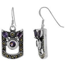 sterling silver marcasite dangle